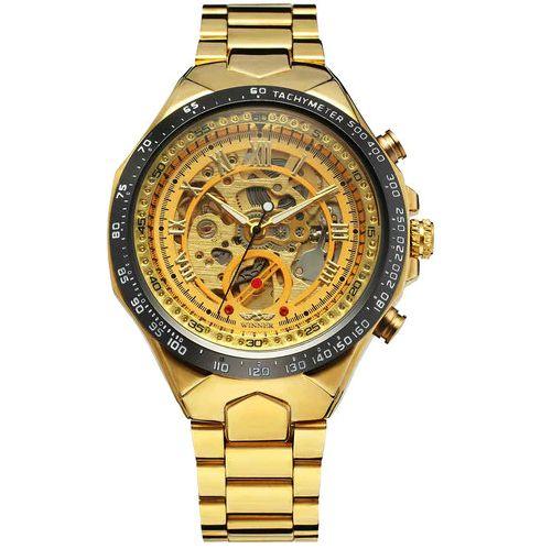 Relógio Dourado Winner Band