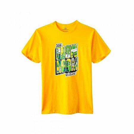 Camiseta Growroom - Edição 17 anos - Masculina Amarela