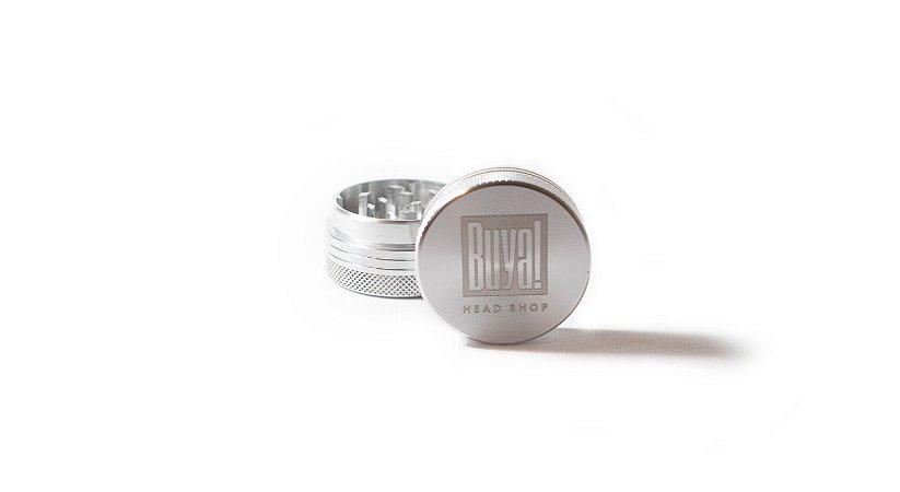 Dichavador Buya! - 2 Partes Pequeno (40mm) - Alumínio - Prata
