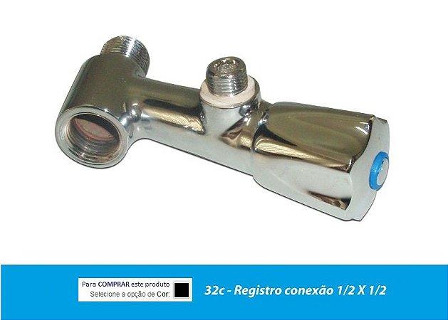 Adaptador Torneira Registro Volante Metal