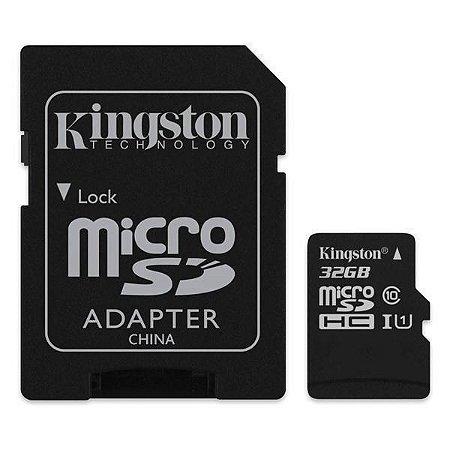 Cartão de Memória Kingston SDC10G2/32GB Micro SDHC I de 32GB com Adaptador