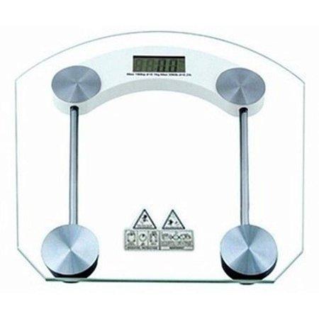 Balança Digital de Vidro Temperado Banheiro Academia 180kg
