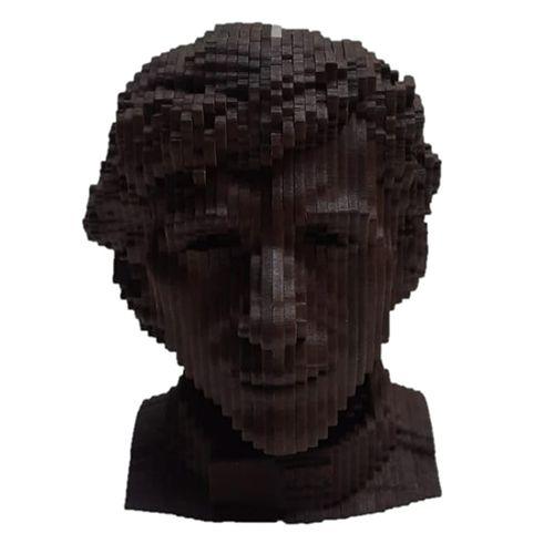 Busto Ayrton Senna em MDF 3D