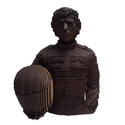 Busto Ayrton Senna com Capacete em MDF 3D