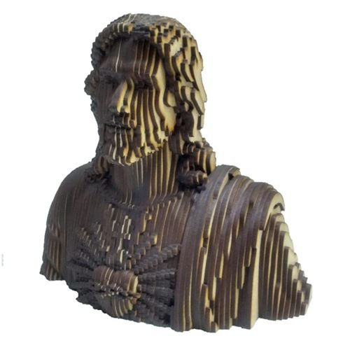 Busto Jesus Sagrado Coração de Jesus em MDF 3D