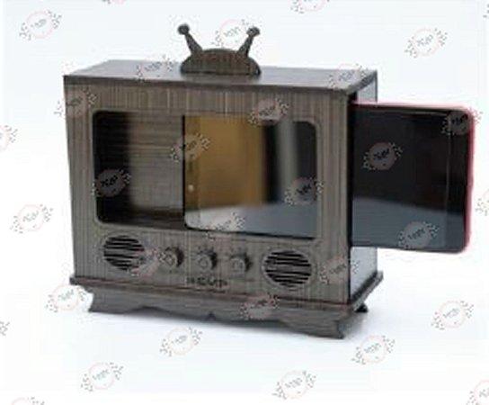 Porta Celular TV Retrô em MDF