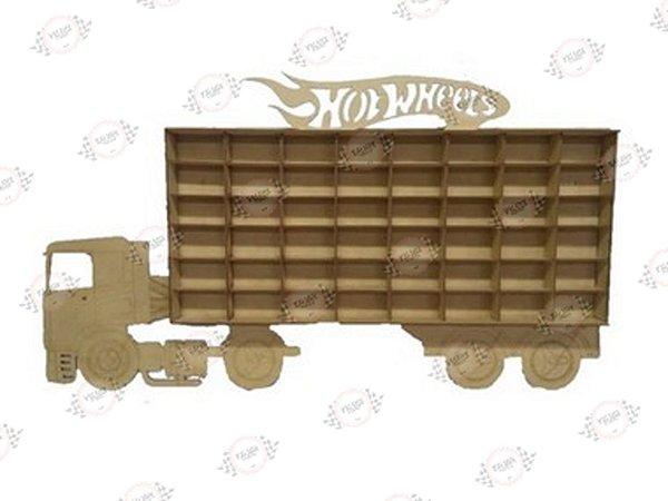 Porta Carrinhos Hot Wheels em MDF