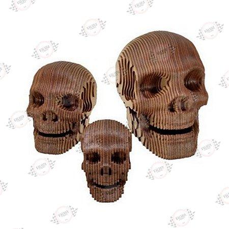 Crânio Caveira em MDF 3D