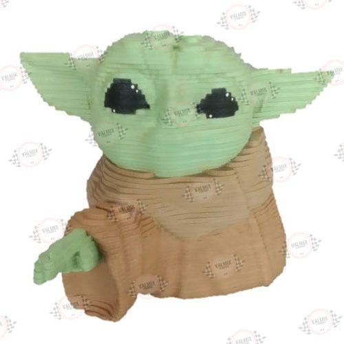 Busto Baby Yoda em MDF 3D Pintado