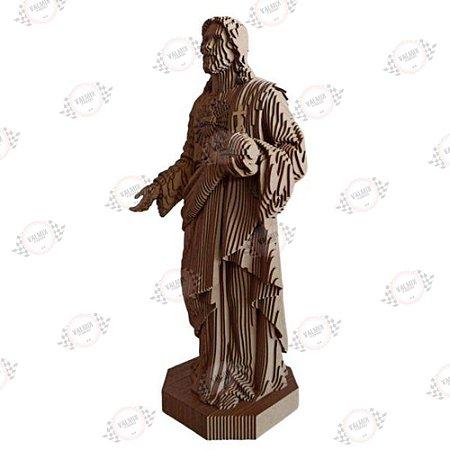 Jesus Sagrado Coração de Jesus em MDF 3D