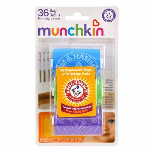 Sacos de Refil Dispenser de Fraldas Munchkin c/ 36