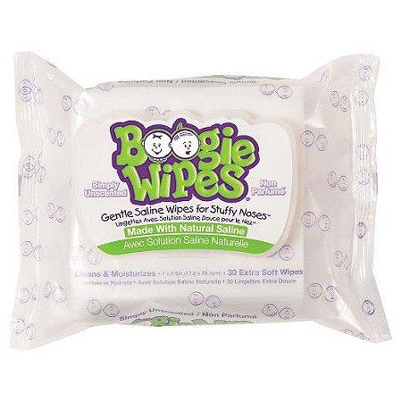 Lençol Salinizado Para Nariz Entupido Boogie Wipes C/ 90