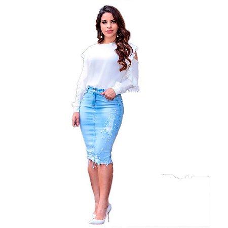 ba23505ef Saia Jeans Challot Hadock Modelo Elisa - Virtuos - Moda e Acessórios
