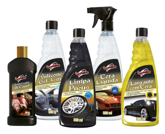 A - Kit Limpeza CarTopCar com 05 itens