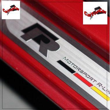 Soleira Inox modelo  Rline Motorsport com detalhe da Bandeira da Alemanha