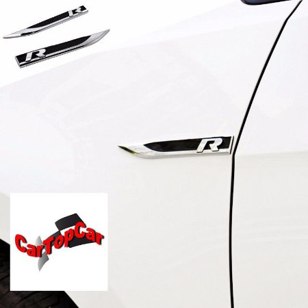 Fender Rline Emblema lateral Kit com 02 Peças na cor Preto com cromo