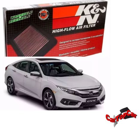 Filtro de Ar K&n para Honda Civic Touring 1.5 Turbo REF. 33-5044