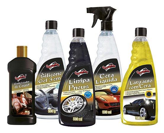 D - Kit REVENDEDOR Produtos Limpeza Automotiva CarTopCar 70 Itens