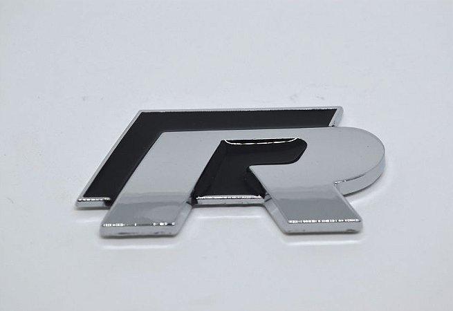 Emblema R (Rline) para Linha Volkswagen - Cor Preto