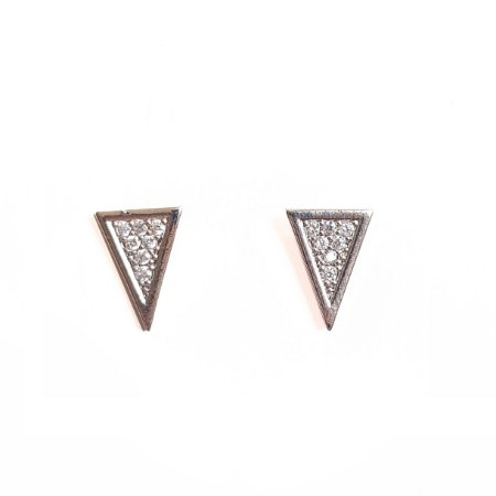 Brinco Midi Triangular Silver