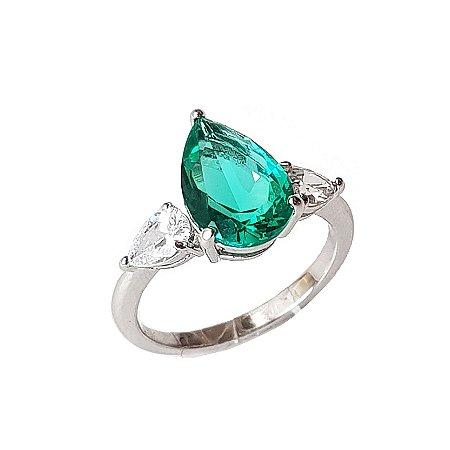 Anel Turmalina Green Esmeralda