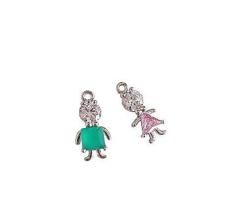 Mini Pingentes Menina ou Menina (separados)
