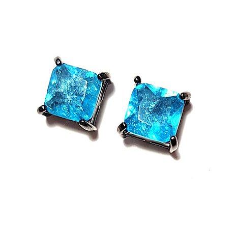 Brinco Azul Cristal