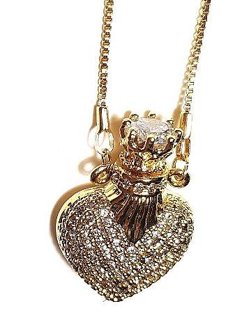 Colar Coração Perfumeiro Midi Gold