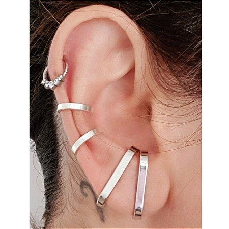 Piercing Liso Silver