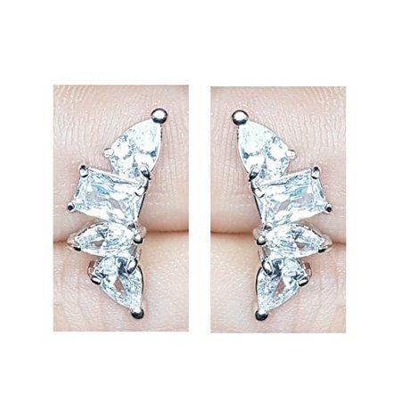 Brinco Earcuff Formas Silver