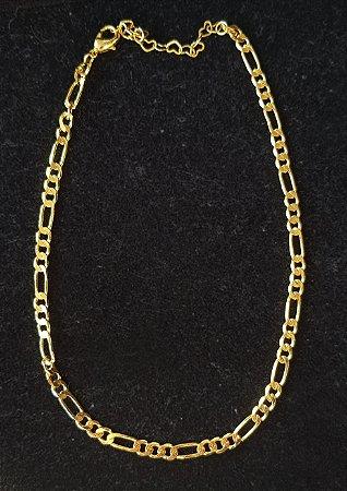 Colar Chocker Corrente Cartier Gold