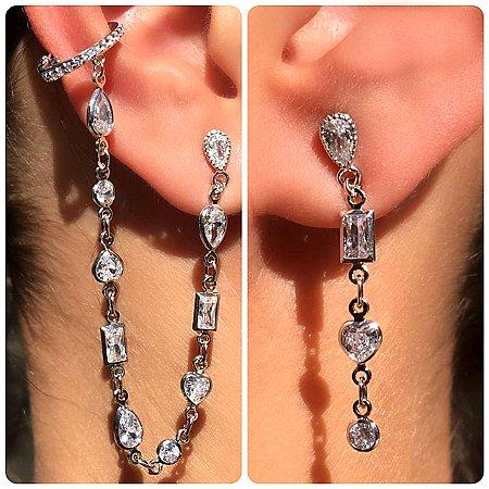Brinco Earcuff Gipsy Tiffany Silver