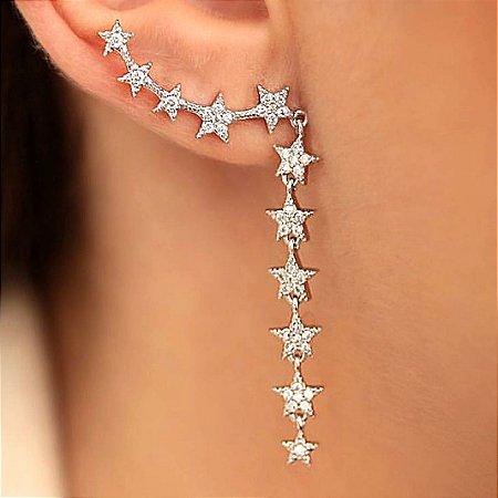 Brinco Earcuff Star silver