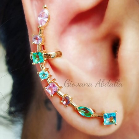 Brinco Earcuff colors gold Mikonos