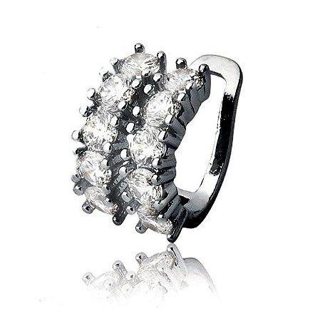 Piercing Diamond Duplo Rodio negro