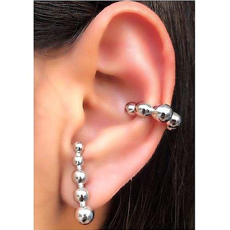 Brinco Earhook Bools Silver