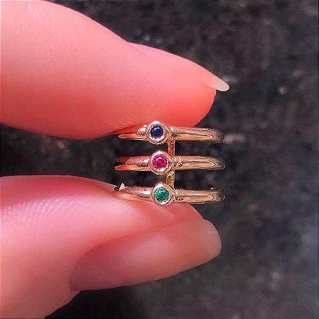 Piercing 3 elos Stone Colors Mikonos
