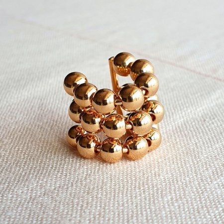 Piercing Balls 3 fileiras Stron gold Mikonos
