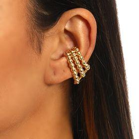 Piercing Earhook Três fileiras Balls gold