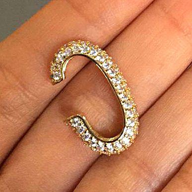 Piercing Earhook Cravejado Strong Gold Mistic