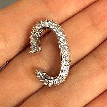 Piercing Earhook Cravejado Strong Silver Mistic