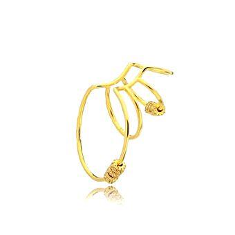 Brinco Piercing Earhook Argolas Gran Gold