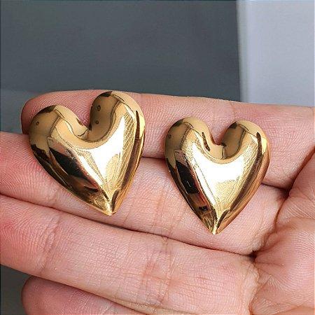Brinco Coração Gold