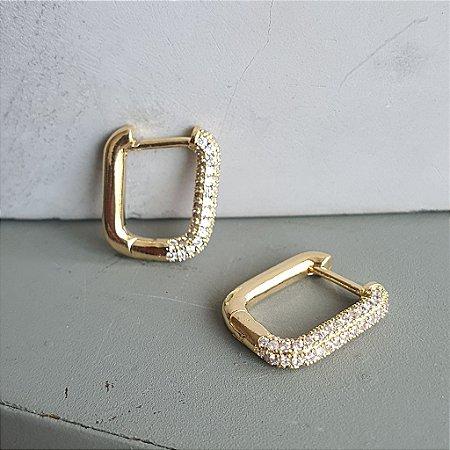 Brinco Quadrado Midi Gold Mistic
