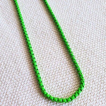 Colar Verde Neon Esmaltado Mistic