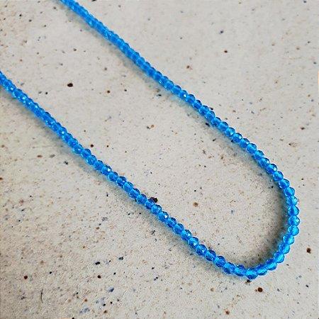 Colar Cristal Azul
