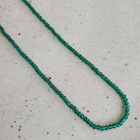Colar Cristal Verde Esmeralda