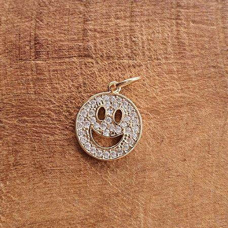 Pingente Smile Cravejado Gold