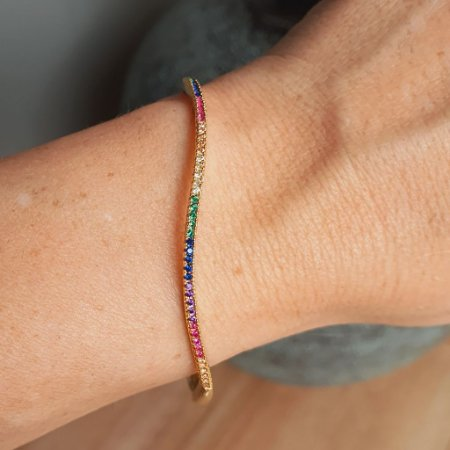 Pulseira Arco Riviera Rainbow