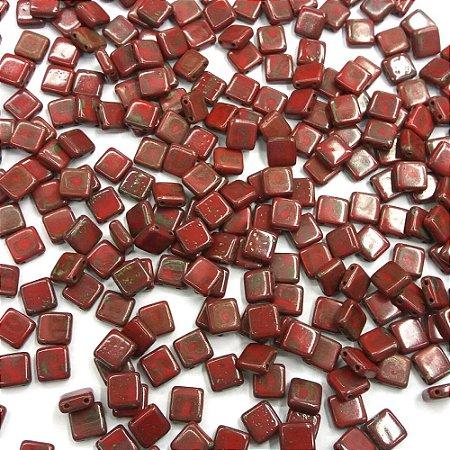 Conta Tile Bits 2 Furos Vermelho 93200/86800